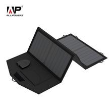 Allpowers 5 В 12 В 18 В Панели солнечные Батарея Зарядное устройство для зарядки iphone Samsung iPad 12 В автомобиля Батарея 18 В ноутбук и т. д.