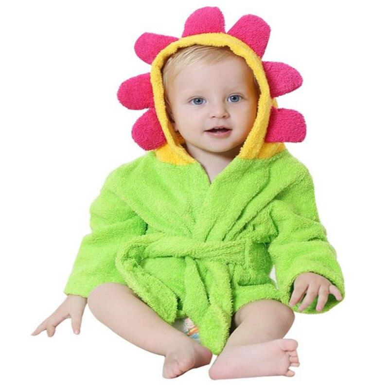 Hot sale 100% cotton baby beach gown child bathrobe beach towels baby cloak cape baby bath towel child bathrobes
