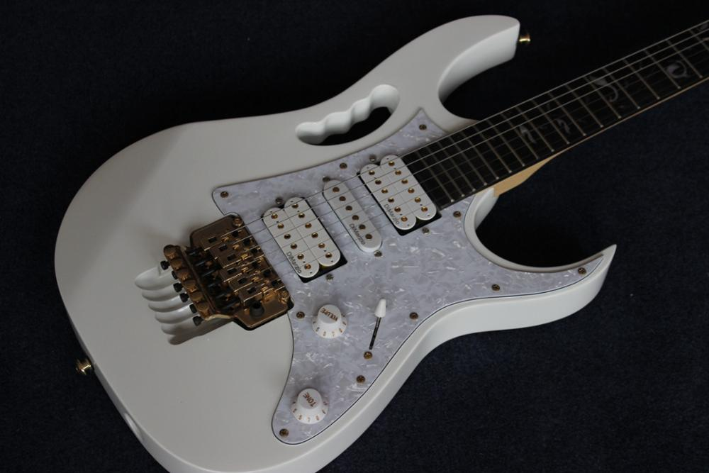 2019 New + Factory + white electric guitar all gold hardware tree of life inlays 21 to 24 frets scalloped OEM electric Guitar