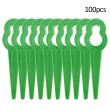 100pcs Plastic Trimmer Blades Replacement Lawn Mower Blades for Garden Grass Trimmer Parts цена и фото