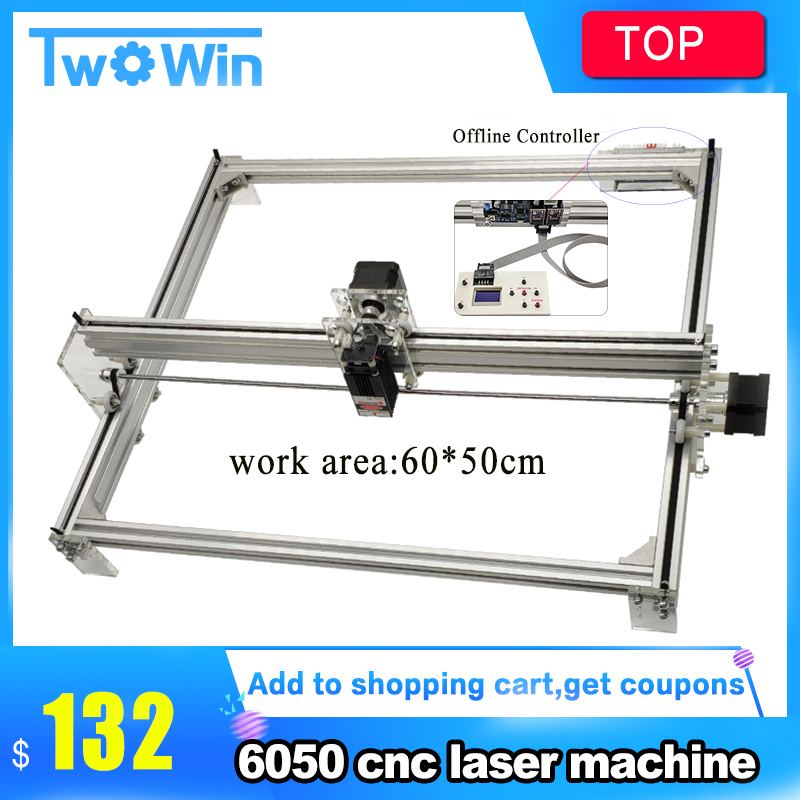 15w 65*50cm Large Area 10w Big Laser Engraving Machine, CNC DIY Laser Module Marking Machine,laser Engraver+Offline Module