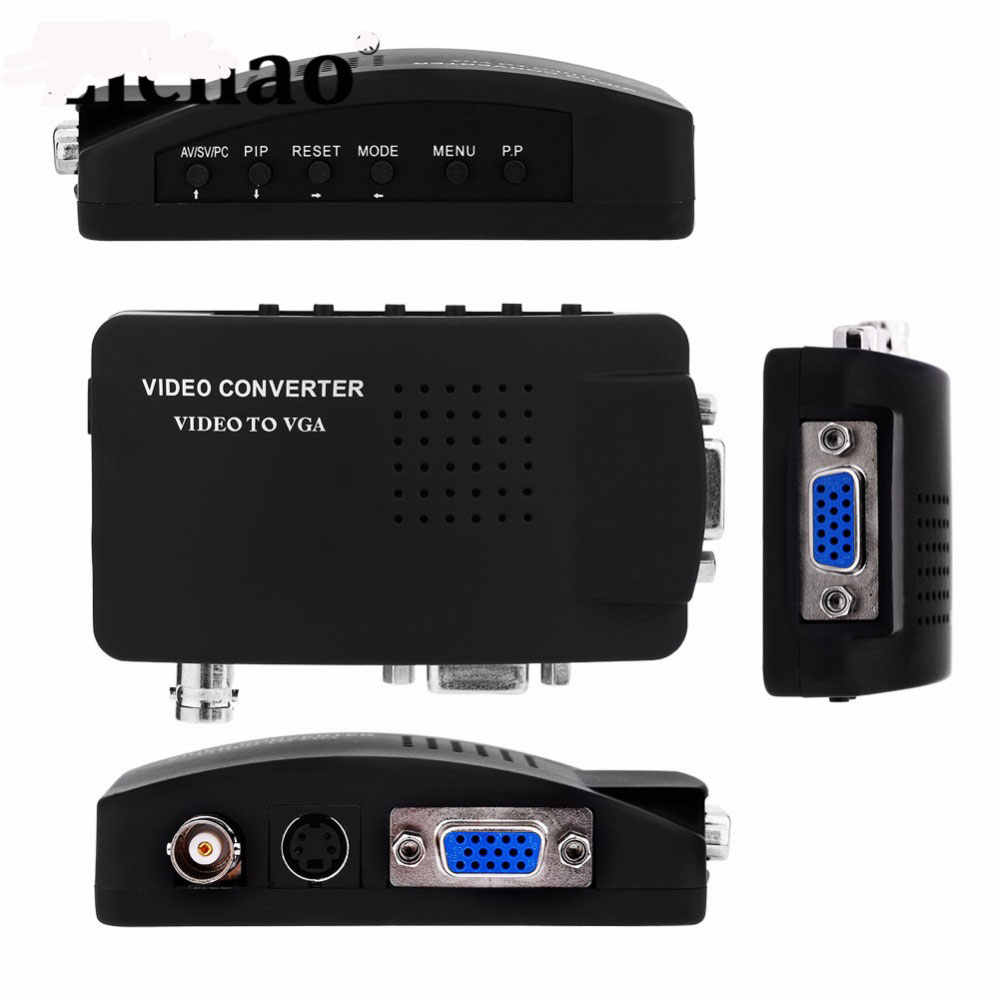 ポータブル BNC vga 動画変換コンポジット S-ビデオ入力に PC の VGA 出力アダプタデジタルスイッチボックス PC MACTV カメラ DVD DVR