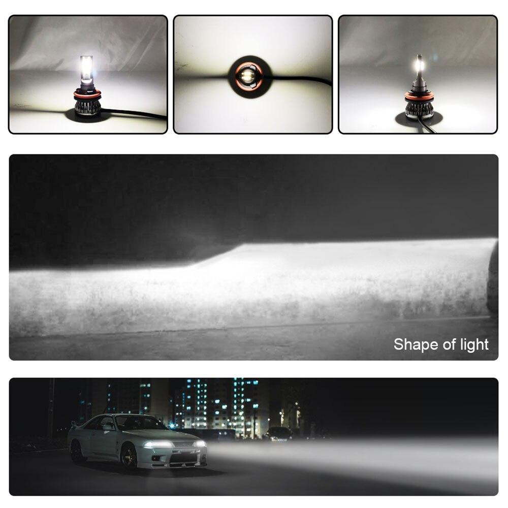 H8/H9/H11/9005/HB3/H10/9006/HB4/H4/HB2 светодиодный фонарь светодиодный противотуманный фонарь в сборе передняя лампа Универсальная Замена автомобиля