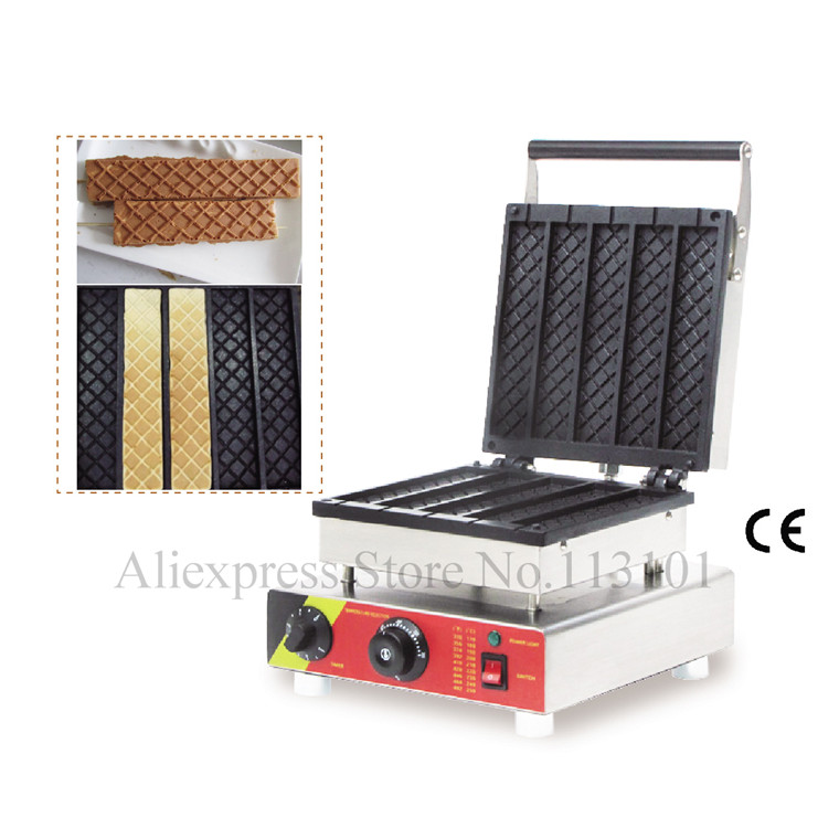 Rectangle waffle baker commercial rectangle waffle machine stainless steel long shape waffle maker with Five mouldsRectangle waffle baker commercial rectangle waffle machine stainless steel long shape waffle maker with Five moulds