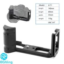 Professionnel L plaque à rotule conseil de dégagement rapide QR support adaptateur de montage pour Fuji Fujifilm X T1 accessoires de trépied dappareil photo