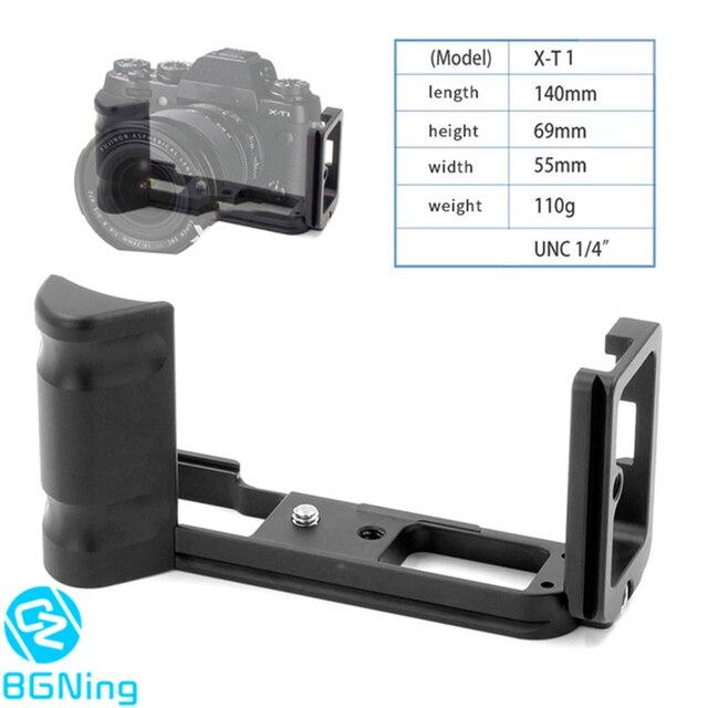 Profesyonel L topu kafa plakası hızlı bırakma kurulu QR braketi montaj adaptörü Fuji Fujifilm X T1 kamera tripodu aksesuarları