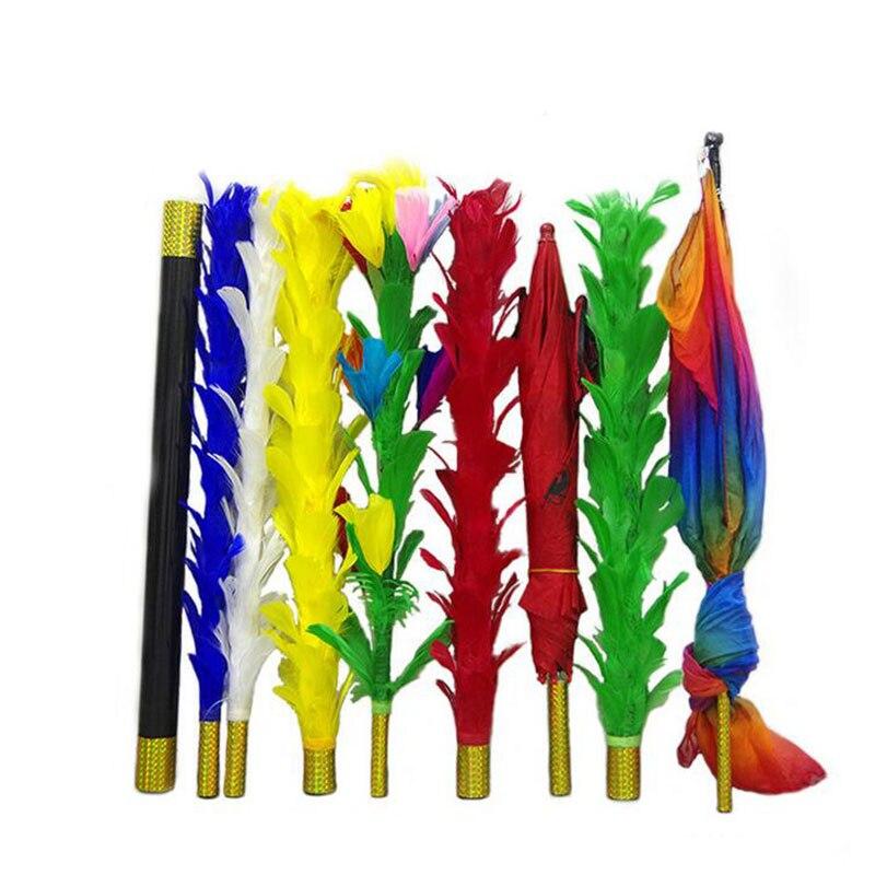 Plume bâtons Variation tours de magie amusant scène Magia Fether fleur à parapluie/bouquet/drapeau mentalisme Gimmick accessoires magicien