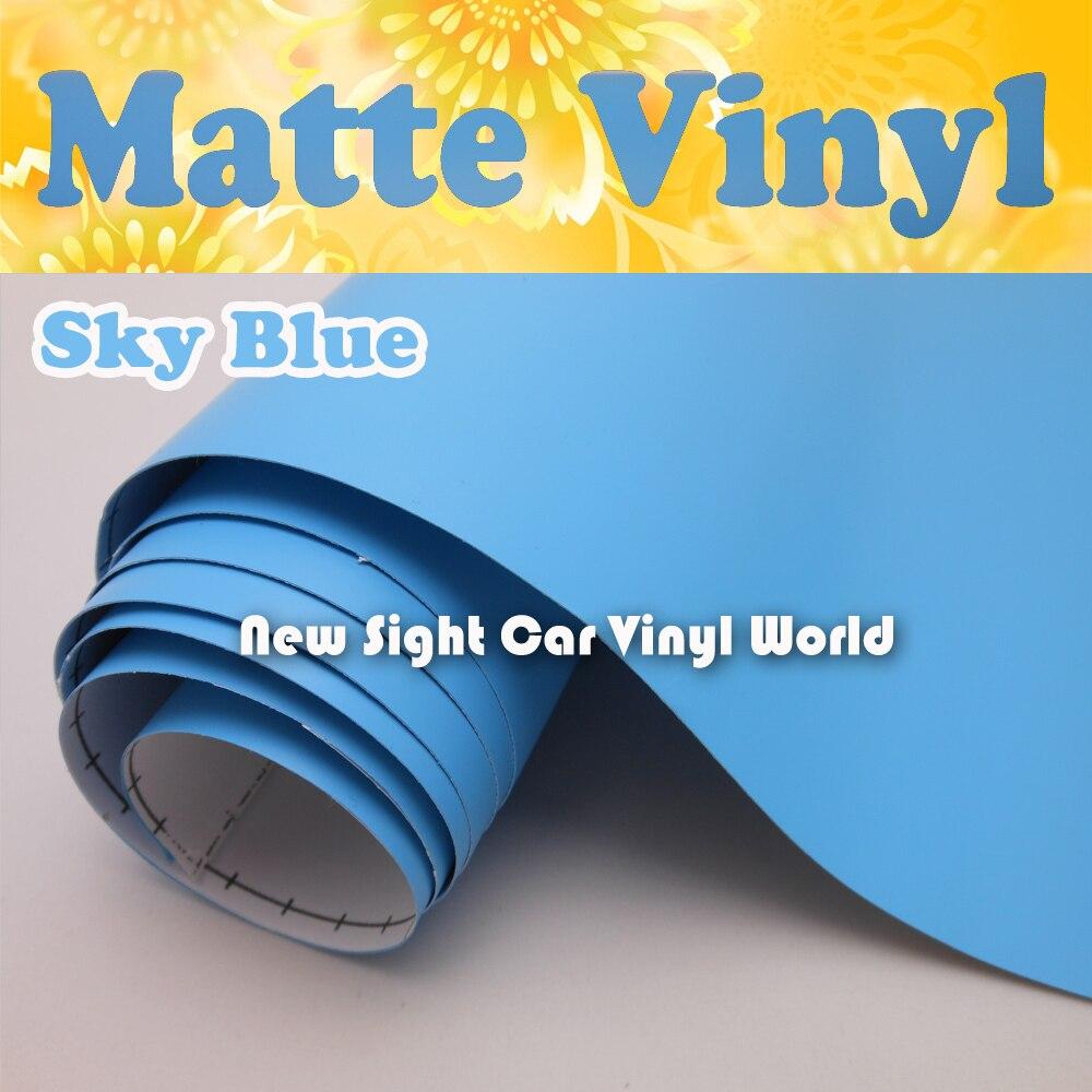 Baby Blue Matte Blue Vinyl Wrap Air Free Bubble For Vehicle Wrap Size 1 52 30m