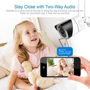 Image 4 - HD 1080P 5MP كاميرا IP لاسلكية ONVIF اتجاهين الصوت واي فاي كاميرا في الهواء الطلق مقاوم للماء TF فتحة للبطاقات رصاصة كاميرات P2P APP ICsee