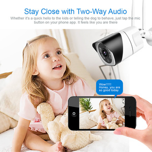 Image 4 - HD 5MP Wifi IP Camera ONVIF 1080P Wireless Wired CCTV Bullet Camera Outdoor Two Way Audio TF Card Slot Max 64G IR 20m P2P iCsee