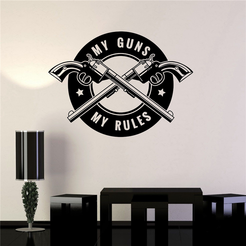 vinyl decal gun shops shooting range quote weapons wall stickers