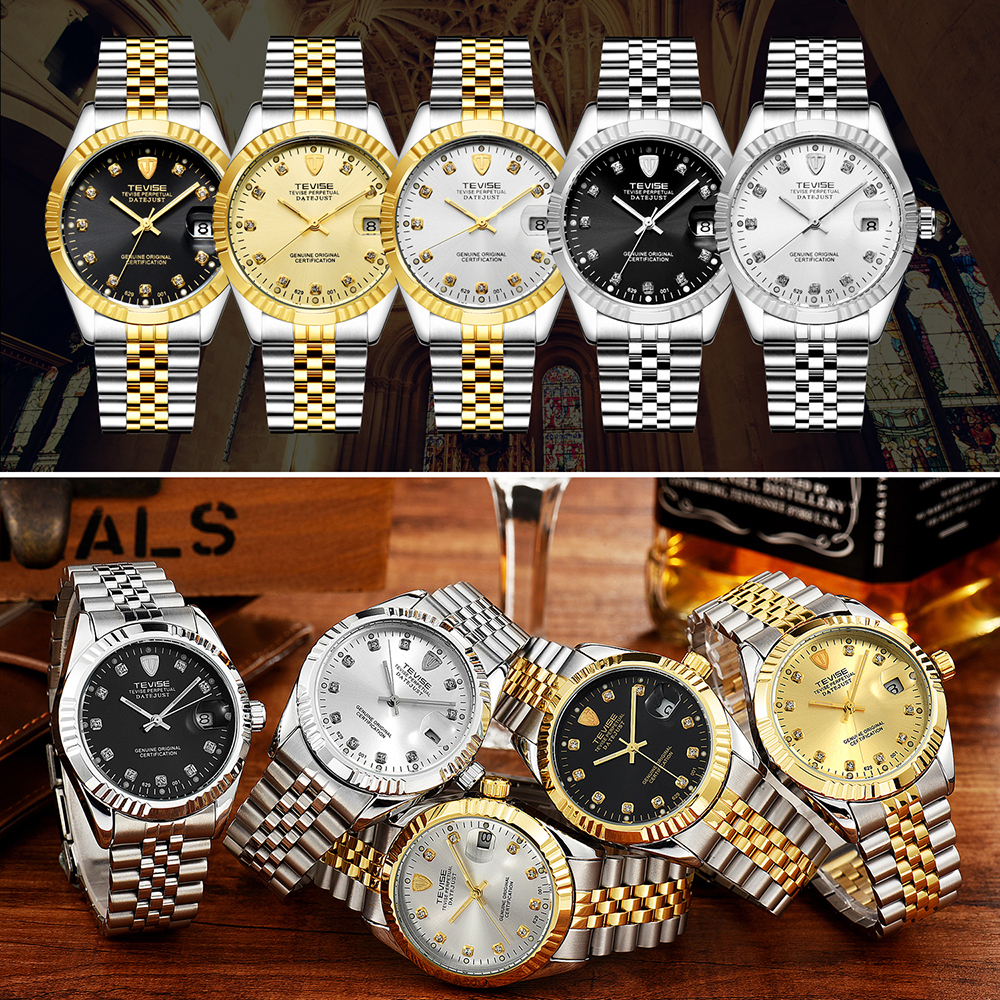 TEVISE Brand Watch Men Women Semi automatic Watches Fashion Luxury Mechanical Watch Waterproof Luminous Sport Casual Wristwatch 4