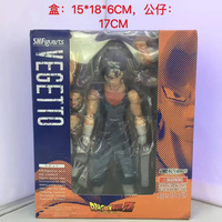 Hot Son Goku Gokou Mix Vegeta Super Saiyan Vegetto Super Soldier Bandai SHF 17CM Action Figure