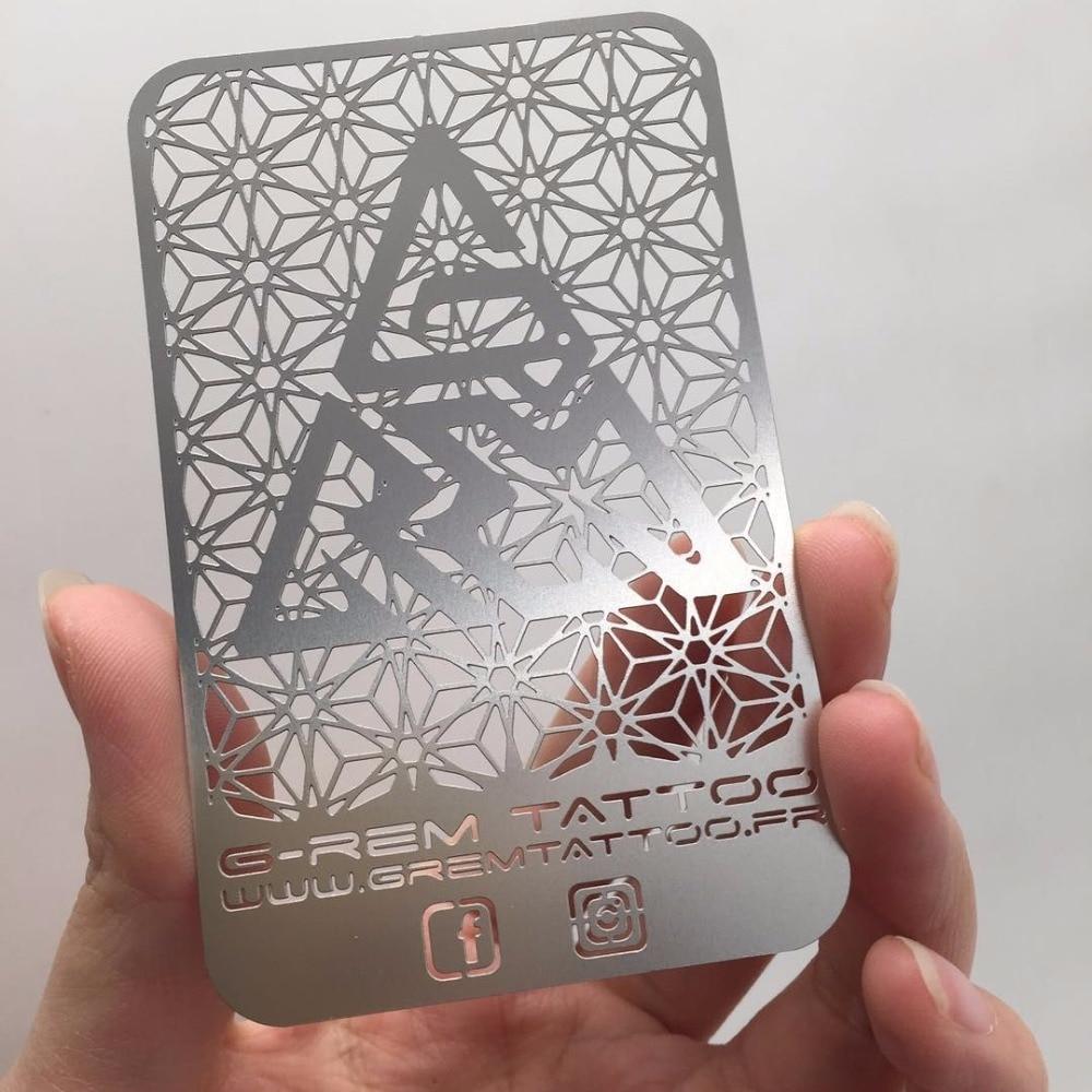 Custom Die Cut Stainless Steel Metal Business Card
