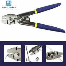Easy Catch Stainless Steel 0.1 2.2mm Copper Tube Crimping Fishing Pliers Terminal Fishing Line Cutter Scissors Tool