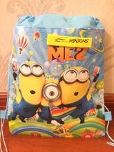 kids children minions bag tote backpack string shoe bag for sweaty clothes school bag for boys and girls to school runners(China)