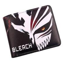 Мужской короткий кошелек Bleach Ichgo, маскарадный Чехол-держатель для кредитной карты, кошелек двойного сложения в стиле аниме для студентов