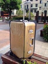 """20 """" / 24 """" / 28 """" Transparent voyage bagages housses de protection PVC étanche bagages couvre couvercle de valise voyage accessoires"""