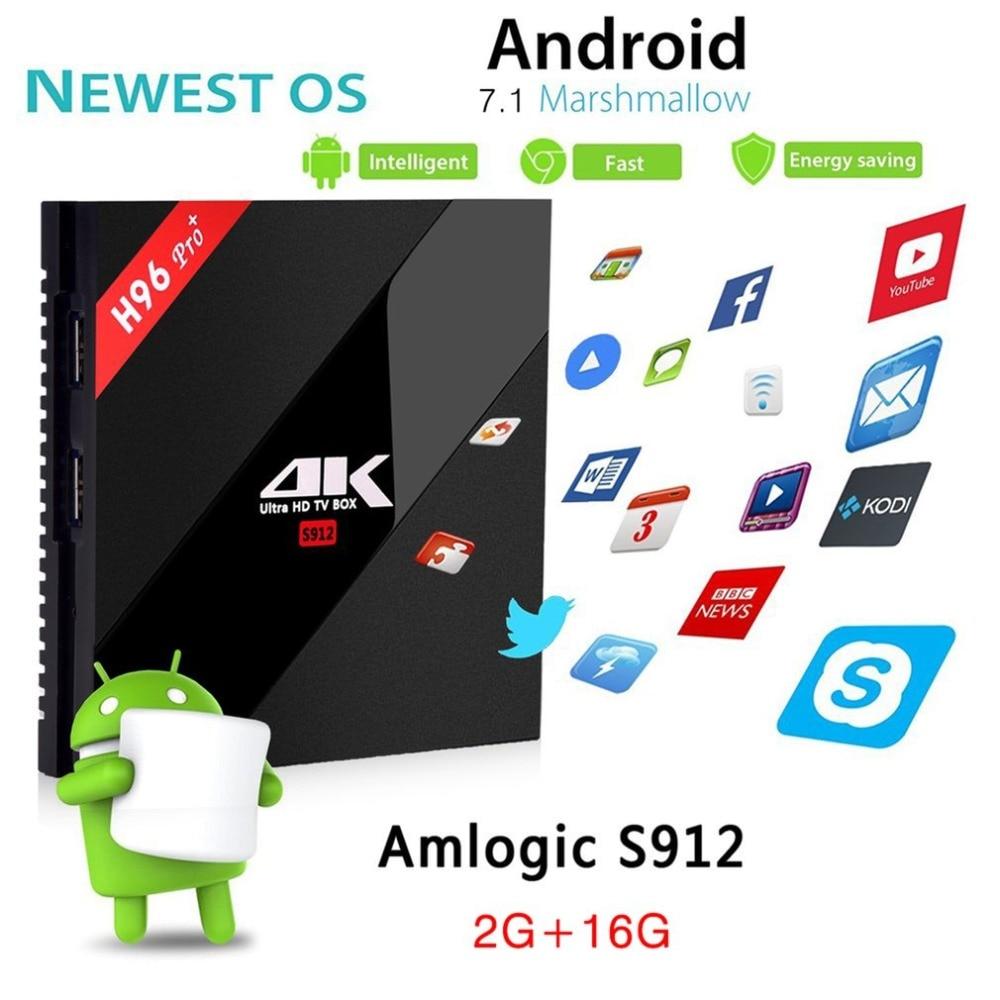 H96 Pro+ Amlogic S912 Octa Core Android 7.1 KODI 2/3G DDR3 16/32G Flash Wifi 4K H96 Plus Bluetooth Android TV Box promoitalia пировиноградный пилинг pro plus пировиноградный пилинг pro plus 50 мл 50 мл 45%
