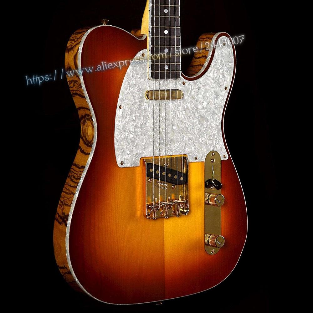 GC Custom Shop Masterbuilt John Cruz Spruce Top With Zebrawood Body Electric Guitar high quality custom shop lp jazz hollow body electric guitar vibrato system rosewood fingerboard mahogany body guitar