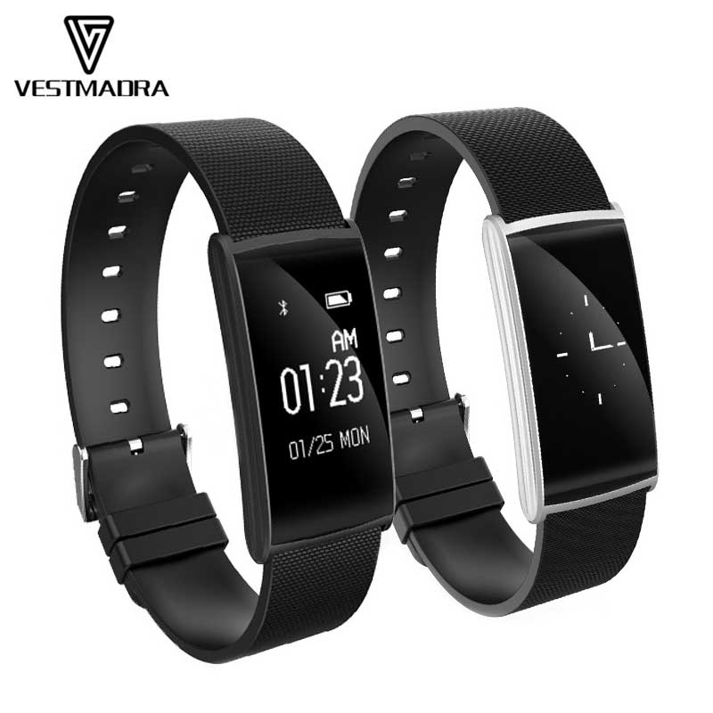 VESTMADRA Smart Band 0 96 inch Heart Rate Monitor Blood oxygen Blood Pressure watch with