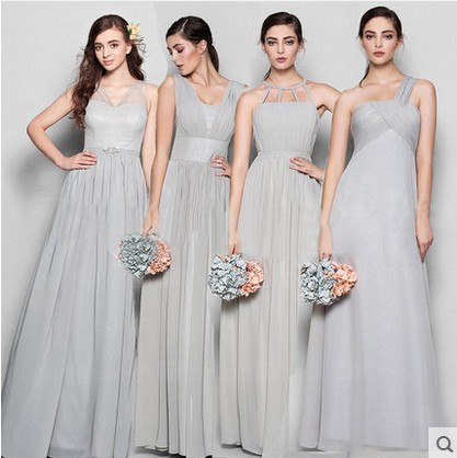 2016 the new bridesmaid dresses bridesmaid dresses long grey spring evening dress female sisters dress party conference the unknown bridesmaid