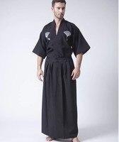 National Trends Japanese Men S Warrior Kimono With Obi Traditional Yukata Samurai Clothing Convention Costume One