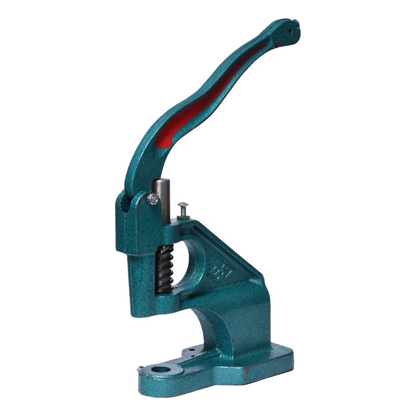 Metal Manual Grommet Machine Hand Press Abrasive Tools Eyelets Spot Snap Button Punch Tool Fabric Covered Handmade Self