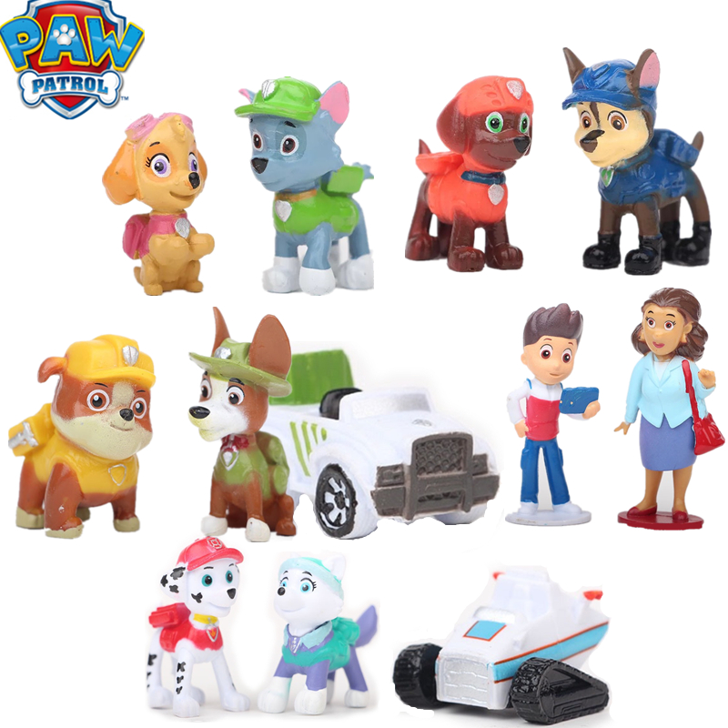 New Paw patrol Toys Dog Everest 12/set Tracker PVC Family Games Action  Anime Figure Model patrulla canina Toy of Children Gift