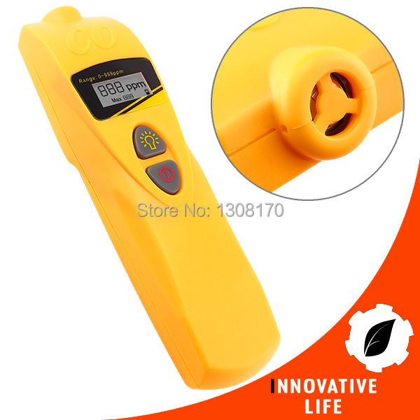 Handheld Digital Carbon Monoxide CO Sensor Meter Tester Monitor Detector 0~999 PPM Range 0 2000ppm range wall mount indoor air quality temperature rh carbon dioxide co2 monitor digital meter sensor controller