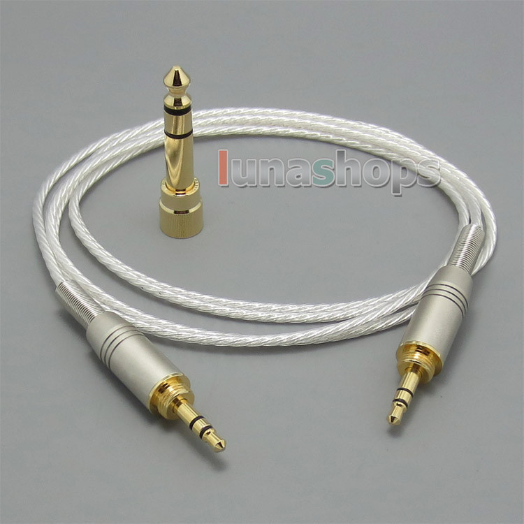 Silver Plated headphone Cable For For Audio ATH-pro500mk2 ATH-PRO700MK2 ATH-PRO5V ATH-M50 ATH-M50RD Headphone LN004786