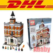 DHL 2859 PCS Lepin 15003 Creators Town Hall Building Set City Street Blocks Model Self-Locking Bricks Toy Compatible 10224