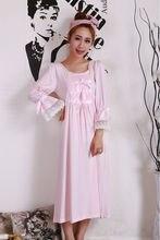 2017 New Autumn Style Fashion sexy Women's Sleepwear nightgown Women's Home Clothes sleepshirt nightdress Free Shipping