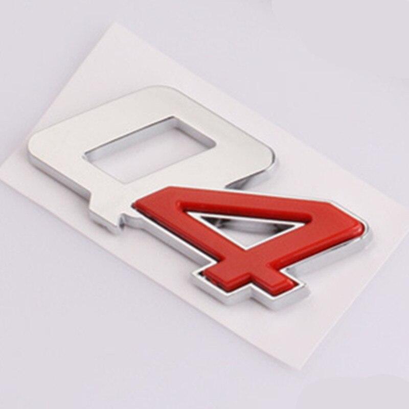 New Chrome Metal Badge Side Emblem Stickers for Maserati Quattroporte Sport
