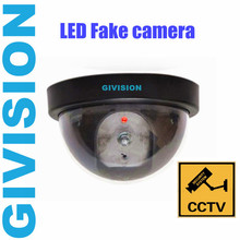2015 new Fake Surveillance Dummy CCTV Security Dome Camera decoy indoor outdoor Flashing Red LED Light fake CAM