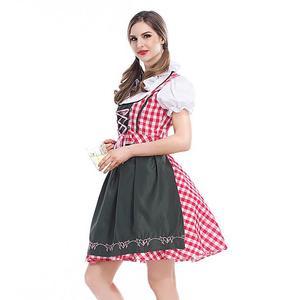 Image 4 - S 6XL Disfraz de Oktoberfest para mujer adulto, traje femenino de fiesta, el Dirndl, Bávaro, mucama, campestre, 2020