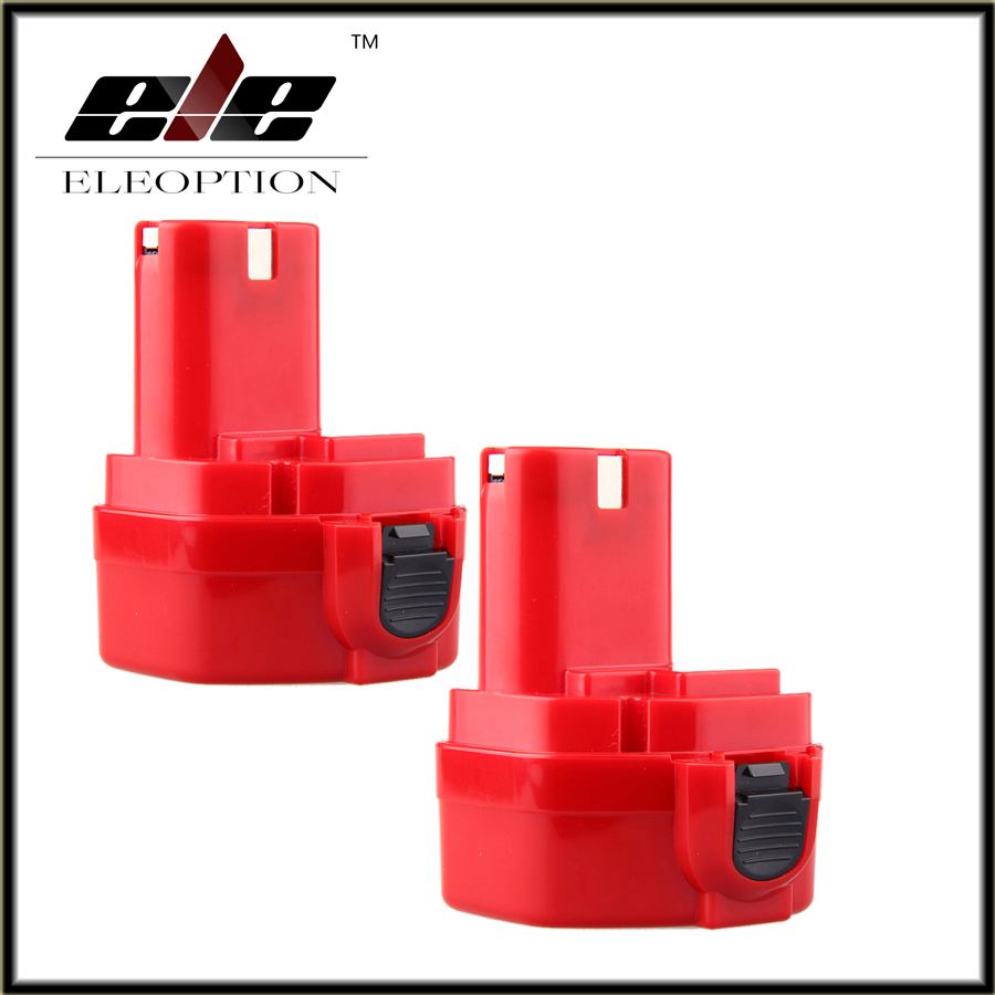 2 PCS New <font><b>12V</b></font> Ni-CD <font><b>1.3Ah</b></font> Replacement Power Tool Rechargeable <font><b>Battery</b></font> for Makita 192681-5 1220 1233 1201 1222 1223 1235 image