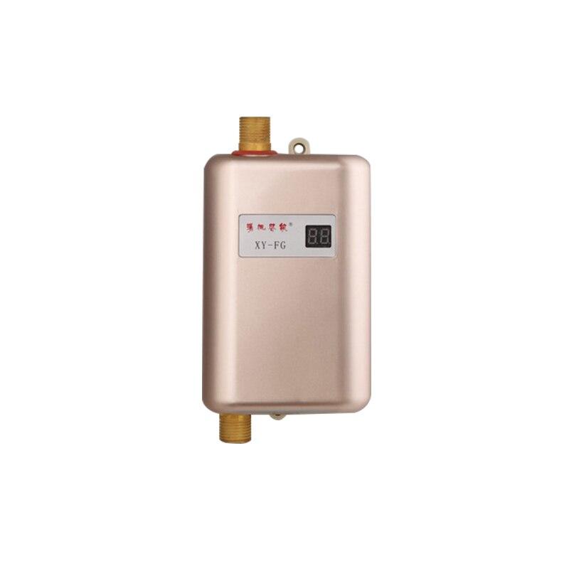 Chauffe-eau électrique instantané eau chaude cuisine sans réservoir chauffe-eau instantané ménage LED affichage de la température 110 V/220 V
