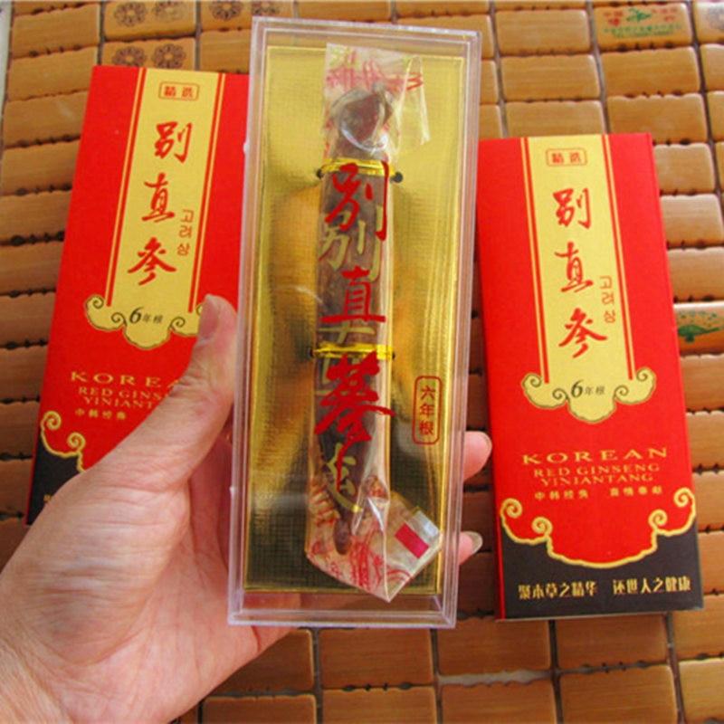 150g 6 años de edad coreano rojo Ginseng raíz cuerpo relajación cuidado de la piel belleza uso 25g/raíz * 6 raíces-in Masaje y relajación from Belleza y salud    1