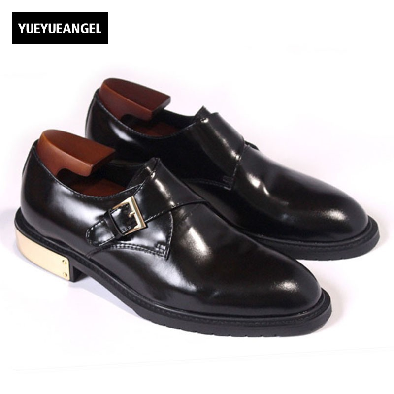 New Luxury Formal Men Dress Shoes Genuine Leather Man Loafers Black Height Increased Mens Shoes Borded Wedding Male Social Shoe цена