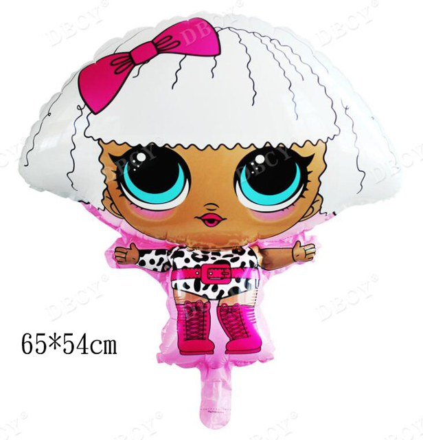 lol Dolls party Theme Disposable tableware Kids Birthday Party Supplies Napkins/Plates/Cup/Banner/Candy box/Popcorn boxes