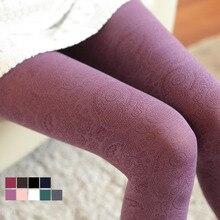 Harajuku японский Винтаж Цветной Колготки модные женские туфли бесшовные колготки Прозрачный цветочный Колготки для девочек нейлон ажурные чулки