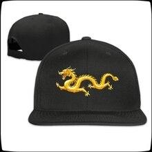 Impresión de chino dragón de oro gorra Casual de Hip Hop Snapback sombreros  gorra de béisbol 7fddb608d47
