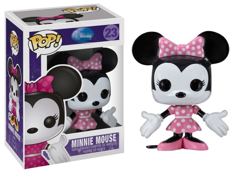 Official <font><b>Funko</b></font> <font><b>pop</b></font> <font><b>Minnie</b></font> <font><b>Mouse</b></font> #23 Bobble Head Vinyl Action Figure Collectible Model Toy with Original Box image