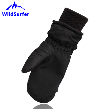 WildSurfer dzieci rękawice narciarskie rękawice snowboardowe 4-9 lat zimowe dla dzieci Narty jazda na nartach wodoodporna śnieg podgrzewane rękawiczki W307 tanie i dobre opinie Kid s Mittens W307 bawełna skóra PU