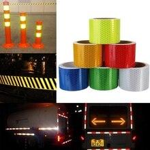 5CM * 300CM pegatinas de seguridad de advertencia reflectante automática para coches de camión pegatina Reflector cinta reflectante coche película en el estilo del coche