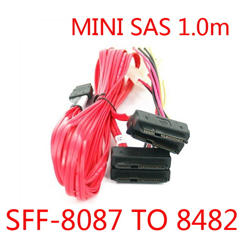 LSI 3Ware Mini SAS Cable SFF 8087 36pin to SFF 8482 Hard Disk and Power x4 SAS sas array card lsi 3ware 9690sa 4i8i amcc 9690sa