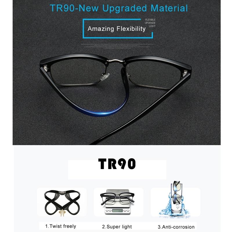 VCKA Computerbrillen Ultra light Brilmontuur Tr90 brillen blu-raylens - Kledingaccessoires - Foto 5