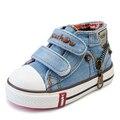 Nuevo estilo de los niños niñas y los niños zapatos de lona planos de la manera zapatos zapatillas transpirables para niños bebé niño ocasional tamaño de los zapatos 19-24