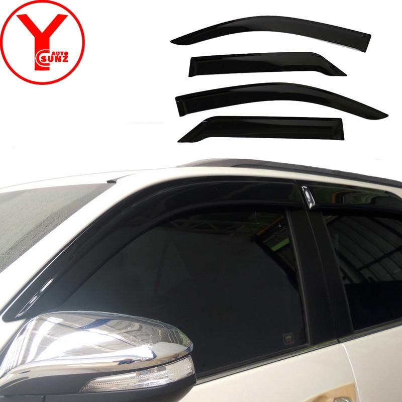 2016-2017 door window visor For Toyota SUV FORTUNER SW4 2016 2017 window rain guards Deflectors car parts accessories YCSUNZ
